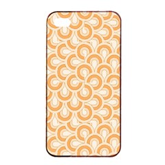 Retro Mirror Pattern Peach Apple Iphone 4/4s Seamless Case (black)
