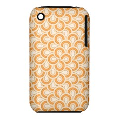 Retro Mirror Pattern Peach Apple Iphone 3g/3gs Hardshell Case (pc+silicone)