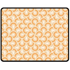 Retro Mirror Pattern Peach Double Sided Fleece Blanket (Medium)