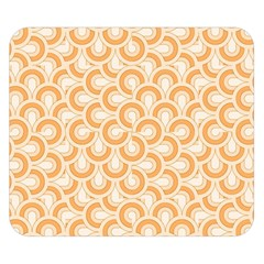 Retro Mirror Pattern Peach Double Sided Flano Blanket (Small)