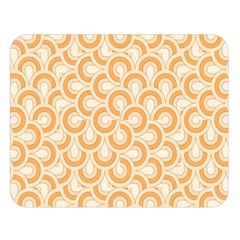 Retro Mirror Pattern Peach Double Sided Flano Blanket (large)