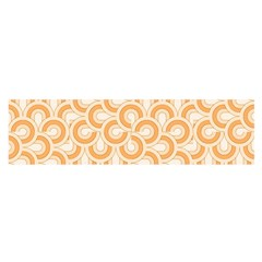 Retro Mirror Pattern Peach Satin Scarf (Oblong)