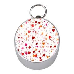 Heart 2014 0603 Mini Silver Compasses