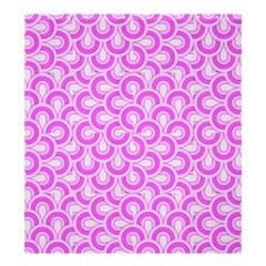 Retro Mirror Pattern Pink Shower Curtain 66  x 72  (Large)