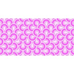 Retro Mirror Pattern Pink You Are Invited 3d Greeting Card (8x4)