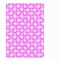 Retro Mirror Pattern Pink Small Garden Flag (Two Sides)