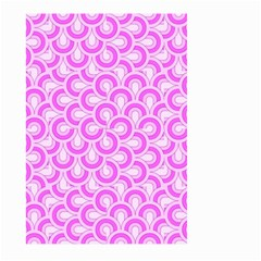 Retro Mirror Pattern Pink Large Garden Flag (two Sides)