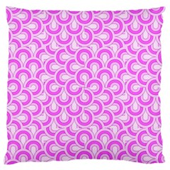 Retro Mirror Pattern Pink Standard Flano Cushion Cases (two Sides)