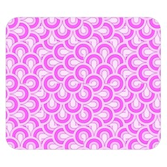 Retro Mirror Pattern Pink Double Sided Flano Blanket (Small)