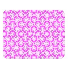Retro Mirror Pattern Pink Double Sided Flano Blanket (large)