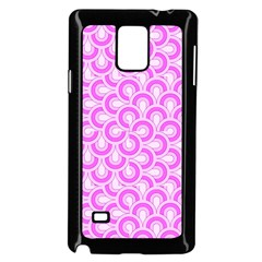 Retro Mirror Pattern Pink Samsung Galaxy Note 4 Case (Black)
