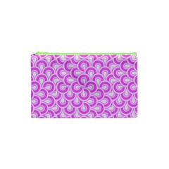 Retro Mirror Pattern Pink Cosmetic Bag (XS)