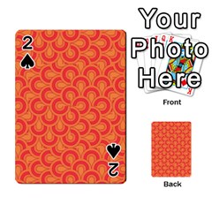 Retro Mirror Pattern Red Playing Cards 54 Designs