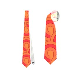 Retro Mirror Pattern Red Neckties (two Side)