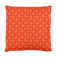 Retro Mirror Pattern Red Standard Cushion Cases (two Sides)