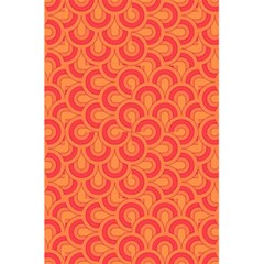 Retro Mirror Pattern Red 5.5  x 8.5  Notebooks