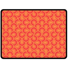 Retro Mirror Pattern Red Fleece Blanket (Large)