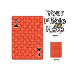 Retro Mirror Pattern Red Playing Cards 54 (mini)