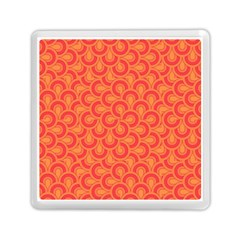 Retro Mirror Pattern Red Memory Card Reader (square)
