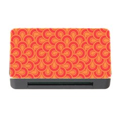Retro Mirror Pattern Red Memory Card Reader with CF