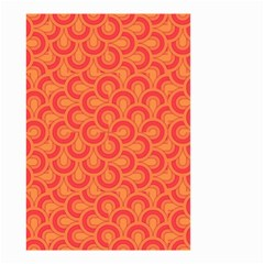 Retro Mirror Pattern Red Small Garden Flag (two Sides)