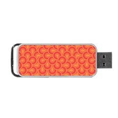 Retro Mirror Pattern Red Portable USB Flash (One Side)