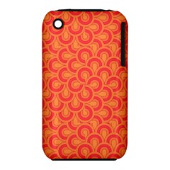 Retro Mirror Pattern Red Apple Iphone 3g/3gs Hardshell Case (pc+silicone)