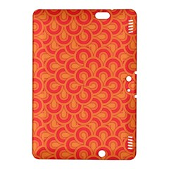 Retro Mirror Pattern Red Kindle Fire Hdx 8 9  Hardshell Case