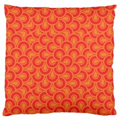 Retro Mirror Pattern Red Large Flano Cushion Cases (one Side)