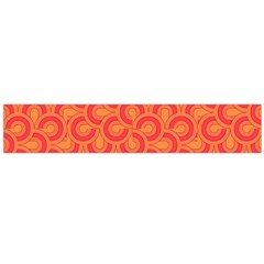 Retro Mirror Pattern Red Flano Scarf (large)
