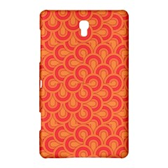 Retro Mirror Pattern Red Samsung Galaxy Tab S (8.4 ) Hardshell Case