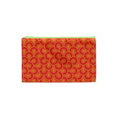 Retro Mirror Pattern Red Cosmetic Bag (XS)