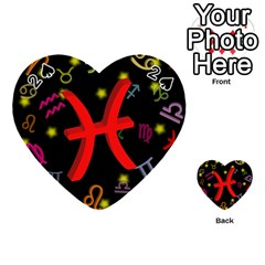 Pisces Floating Zodiac Sign Playing Cards 54 (heart)