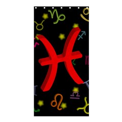 Pisces Floating Zodiac Sign Shower Curtain 36  X 72  (stall)