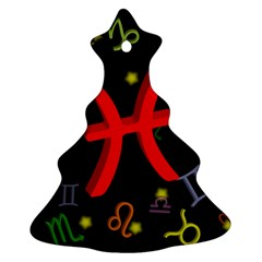 Pisces Floating Zodiac Sign Ornament (Christmas Tree)