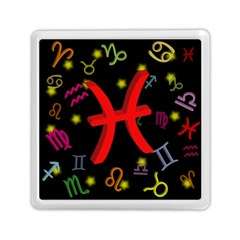 Pisces Floating Zodiac Sign Memory Card Reader (Square)