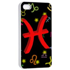 Pisces Floating Zodiac Sign Apple iPhone 4/4s Seamless Case (White)