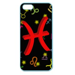 Pisces Floating Zodiac Sign Apple Seamless Iphone 5 Case (color)