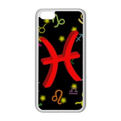 Pisces Floating Zodiac Sign Apple iPhone 5C Seamless Case (White)