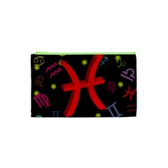 Pisces Floating Zodiac Sign Cosmetic Bag (XS)