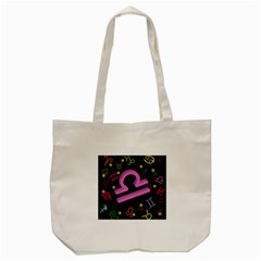 Libra Floating Zodiac Sign Tote Bag (Cream)