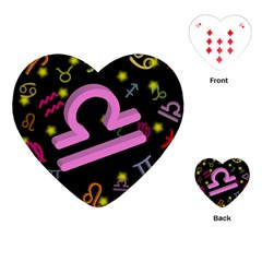 Libra Floating Zodiac Sign Playing Cards (Heart)