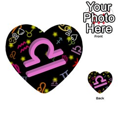 Libra Floating Zodiac Sign Playing Cards 54 (heart)