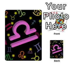Libra Floating Zodiac Sign Multi-purpose Cards (Rectangle)