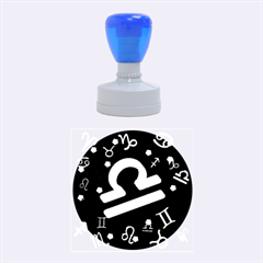Libra Floating Zodiac Sign Rubber Round Stamps (Medium)