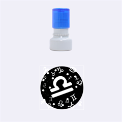 Libra Floating Zodiac Sign Rubber Round Stamps (small)