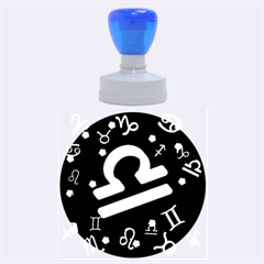 Libra Floating Zodiac Sign Rubber Round Stamps (large)