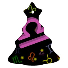 Libra Floating Zodiac Sign Christmas Tree Ornament (2 Sides)