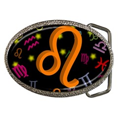 Leo Floating Zodiac Sign Belt Buckles