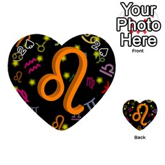 Leo Floating Zodiac Sign Playing Cards 54 (Heart)